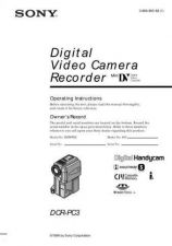 Buy SONY DCR-PC3 OPERATING GUIDE by download #166698