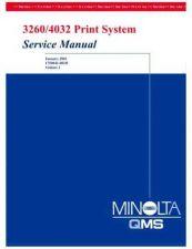 Buy MINOLTA 3260 4032 Service Manual vol2 Service Manual by download #138014