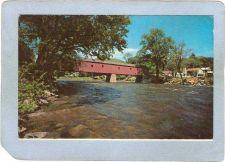 Buy CT West Cornwall Covered Bridge Postcard Bridge Over Housatonic River Worl~37