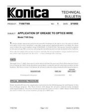 Buy Konica 01 APPLICATION OF GREASE TO OPTICS WIRE Service Schematics by download #1