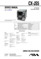 Buy AIWA CX-JS5 TECHNICAL INFO by download #125254