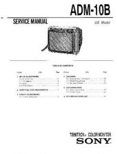 Buy SONY ADM-10B Service Manual by download #166262