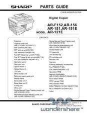 Buy Sharp 124 AR-151 PARTS Manual.pdf_page_1 by download #177680
