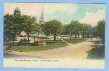 Buy CT Southington Park Southington Centre -Picturesque Color View Of Park w/G~676