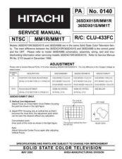 Buy HITACHI 36SDX01SR USA Service Manual by download #163337