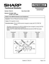 Buy Sharp FAX215 Technical Bulletin by download #138947