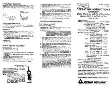 Buy Amprobe ACD12 User Instructions Operating Guide by download Mauritron #194145