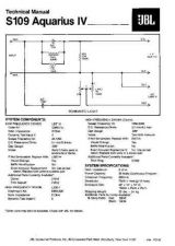 Buy INFINITY S109 AQUARIUS IV TS Service Manual by download #147724