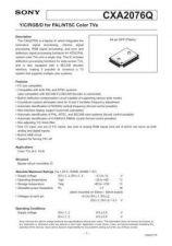 Buy INTEGRATED CIRCUIT DATA CXA2076QJ Manual by download Mauritron #186754