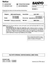 Buy Sanyo PLC-SP10B Manual by download #174765