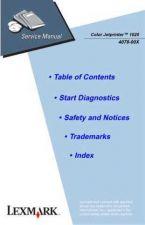 Buy LEXMARK 4078-00X COLOR JETPRINTER 1020 SERVICE MANUAL by download #152207