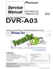 Buy PIONEER DVR-A03 Service Manual by download Mauritron #193612