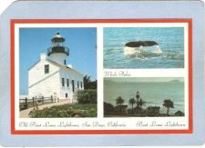 Buy CA San Diego Lighthouse Postcard Tri-view card showing Old Point Loma Ligh~24