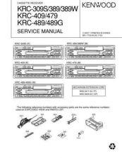 Buy KENWOOD KRC-308S 38MR 388 Technical Info by download #148221
