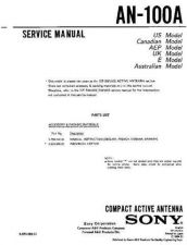 Buy SONY AN-100A Service Manual by download #166264
