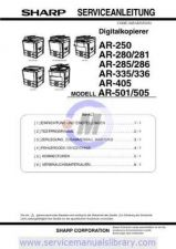 Buy Sharp AR250-280-281-285-286-335-336-405-505 PG GB(1) Manual by download #179397