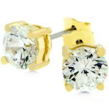 Buy Round Cut Princess Stud Earrings