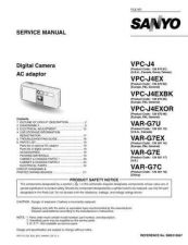 Buy Sanyo Service Manual For VPC-J4EX by download #176293