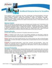 Buy PALM SUREWAVE FOR GROUPWISE DATASHEET by download #127383