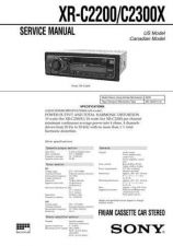 Buy SONY XR-C2200C2300X Service Manual by download #167270