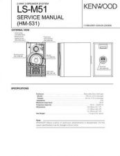 Buy KENWOOD LS-M51 Technical Info by download #151999
