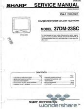 Buy Sharp 37DM23SC SM GB(1) Manual.pdf_page_1 by download #178386