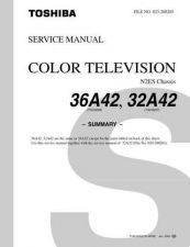 Buy TOSHIBA 36A42 32A42 SUMMARY ON by download #129289
