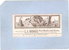 Buy CT Waterbury Victorian Trade Card L. S. Hodges, Fine Boots and Shoes, 61 B~135