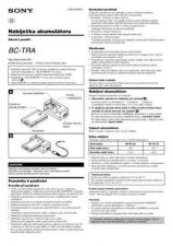 Buy SONY BC-TR30 SCREEN CZ OPERATING GUIDE by download #166298