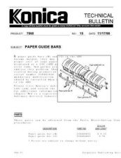 Buy Konica 15 PAPER GUIDE BARS Service Schematics by download #136002