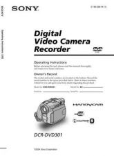 Buy SONY DCR-DVD301 OPERATING GUIDE by download #166666