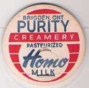 Buy CAN Brigden Milk Bottle Cap Name/Subject: Purity Creamery Homo Milk~236