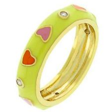 Buy Multi Color Hearts Ring (size: 09)