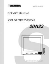Buy TOSHIBA 20A23 SVCMAN TV SERVICE INFO by download #129118