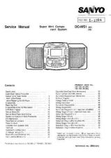 Buy Sanyo Service Manual For DC-M3T MD TM-01 Manual by download #175627