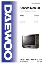 Buy DAEWOO SM DTE-2898 (E) Service Data by download #146619
