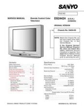 Buy Sanyo DS24424(OM) Manual by download #174021