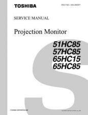 Buy TOSHIBA TENTATIVE 51 57 65HC85 65HC15 SVM Service Schematics by download #160510