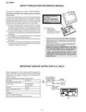 Buy XLT200H SAFETY PRECAUTIONS Service Data by download #134335