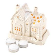 Buy Snow Cottage Tealight Candle Holder