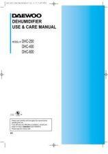 Buy DAEWOO DEHUMIDIFIER (DHC-250,400,600) Manual by download #183870