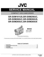 Buy JVC GR-SXM260US TECHNICAL DATA by download #130946