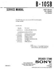 Buy SONY B-10SB Service Manual by download #166286