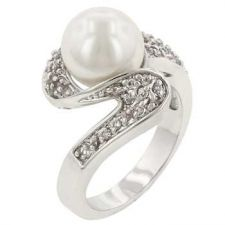 Buy White Pearl Fashion Ring (size: 06)