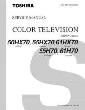 Buy TOSHIBA 50HX70 Service Schematics by download #160023