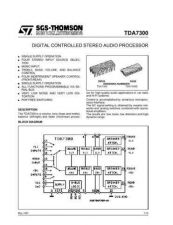 Buy MODEL TDA7300 Service Information by download #124791