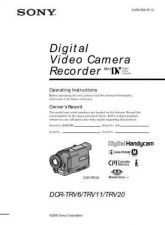 Buy SONY DCR-TRV11(E) OPERATING GUIDE by download #166701