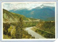Buy CAN Fraser Canyon Postcard Meeting Of The Railways River & Highway can_box~34