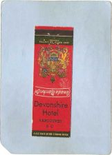 Buy CAN Vancouver Matchcover Devonshire Hotel can_box1~90