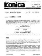 Buy Konica 42 FALSE J21 CODES Service Schematics by download #136175